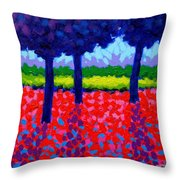 Shadow Trees Throw Pillow