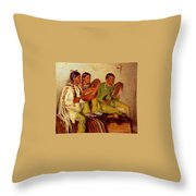 Sharp Joseph Henry Hunting Song Taos Indians Joseph Henry Sharp Throw Pillow