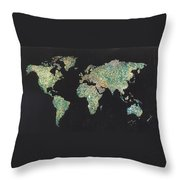 Shattered World Throw Pillow
