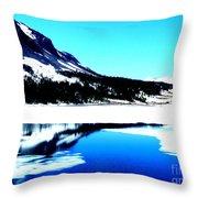 Shiny Snow Magic On Lake Throw Pillow