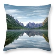 Ship Island Lake Throw Pillow