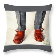 Shoe Work Throw Pillow