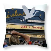 Shoreline Amphitheatre - Dead And Company Throw Pillow