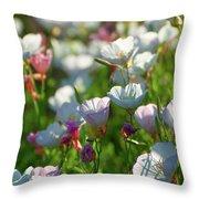 Showy Evening Primrose Throw Pillow