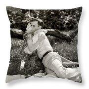 Silent Film Still: Picnic Throw Pillow