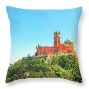 Sintra Pena Palace Throw Pillow