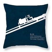 Sjo Juan Santamaria International Airport In San Jose Costa Rica Throw Pillow