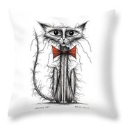 Skinny Cat Throw Pillow