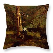 Skirmish In The Wilderness Throw Pillow