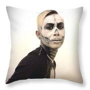 Skull And Tux Throw Pillow