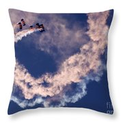 Skydivers Throw Pillow