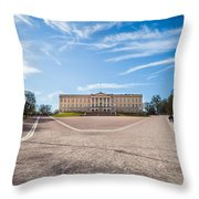 Slottet, The Royal Palace In Oslo, Norway Throw Pillow