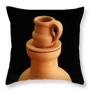 Small Pottery Items Throw Pillow