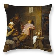 Smokers And Drinkers Throw Pillow