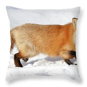 Sneaky Red Fox Throw Pillow