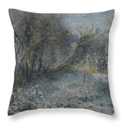 Snow Covered Landscape Throw Pillow