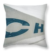 Snowy Weather Conditions Around Charlotte Airport In North Carol Throw Pillow