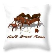 Soft Grand Piano  Throw Pillow
