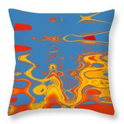Somewhere In The Brain Throw Pillow