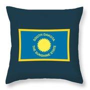South Dakota Flag Throw Pillow