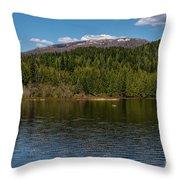 South Skookum Lake Throw Pillow