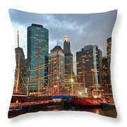 South Street Seaport Throw Pillow