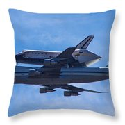 Space Shuttle Endevour Throw Pillow