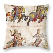 Spain: Knights, C1350 Throw Pillow