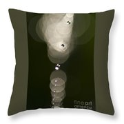 Spider Web Abstracts Throw Pillow