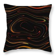 Squiggling Throw Pillow