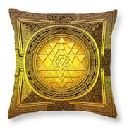 Sri Yantra Throw Pillow by Lila Shravani