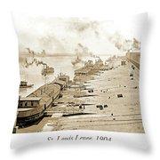 St. Louis Levee, 1904 Throw Pillow