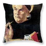 St. Thomas Aquinas Throw Pillow
