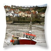 Staithes, North Yorkshire, England Throw Pillow