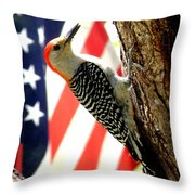 Stamps North American Wildlife. Throw Pillow