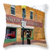 Standing On The Corner - Winslow Arizona Throw Pillow