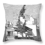 Statue Of Liberty, 1884 Throw Pillow