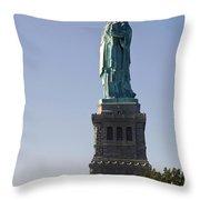 Statue Of Liberty. Throw Pillow