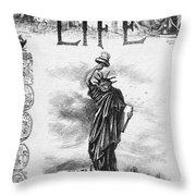 Statue Of Liberty Cartoon Throw Pillow