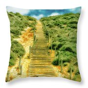 Steps To The Beach Throw Pillow