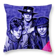 Stevie Ray Vaughan And Double Trouble Collection Throw Pillow