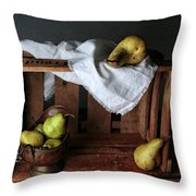 Still-life With Pears Throw Pillow
