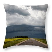 Storm Clouds Prairie Sky Throw Pillow