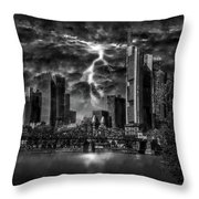 Storm Over Frankfurt Throw Pillow