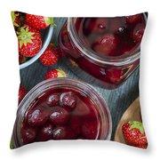 Strawberry Preserve Throw Pillow