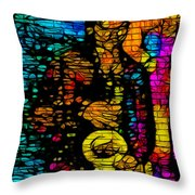 Street Jazz Throw Pillow