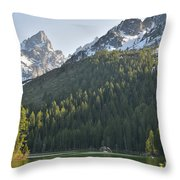 String Lake Reflection Throw Pillow