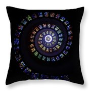 Colorful String Of Diamonds Throw Pillow