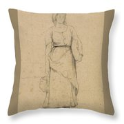 Study Of A Peasant Woman Throw Pillow