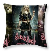 Sucker Punch Throw Pillow